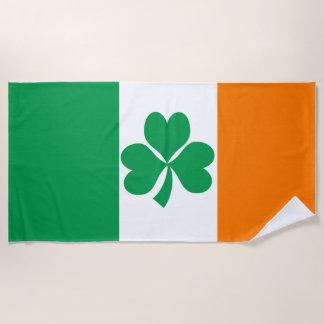Serviette De Plage Drapeau de shamrock de l'Irlande