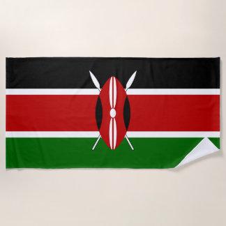 Serviette De Plage Drapeau du Kenya