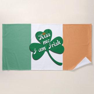Serviette De Plage Embrassez-moi que je suis irlandais