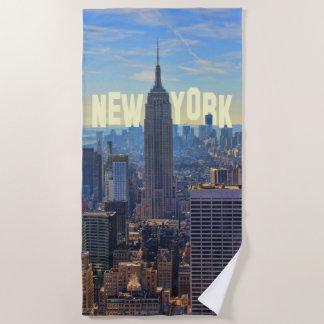 Serviette De Plage Empire State Building d'horizon de NYC, commerce