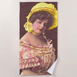Serviette De Plage femme de 1890s dans la copie froncée de vêtement