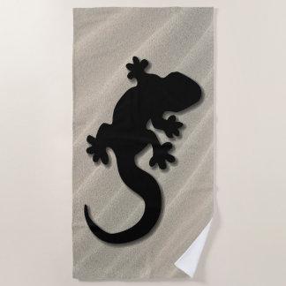 Serviette De Plage Gecko noir