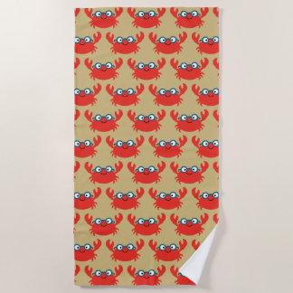 Serviette De Plage Illustration mignonne de crabe de Specky