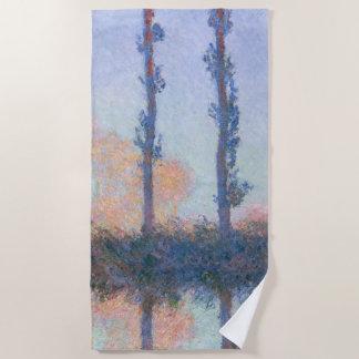 Serviette De Plage Les quatre arbres par Claude Monet