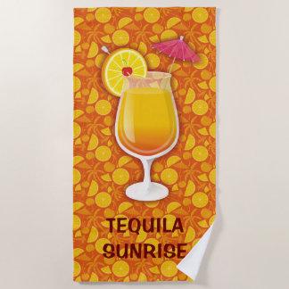 Serviette De Plage Lever de soleil de tequila