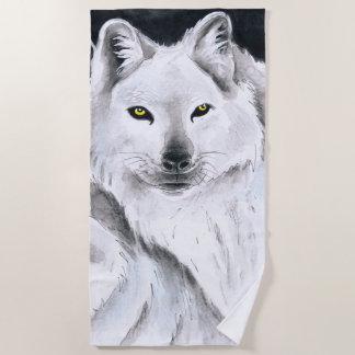 Serviette De Plage Loup arctique
