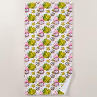 Serviette De Plage Motif de fruit texturisé par carte blanche