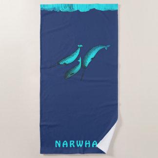 Serviette De Plage Narwhal sous la glace