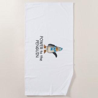 Serviette De Plage Puissance de pingouin de PIÈCE EN T