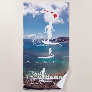 Serviette De Plage Surfer en Hawaï