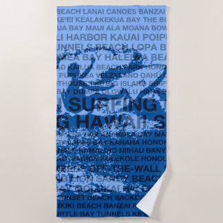 Serviette De Plage Surfer surfant de Hawaïen de réduction d'Hawaï