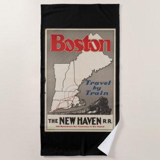 Serviette De Plage Train de chemin de fer vintage de Boston New Haven