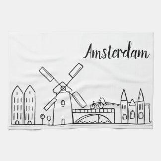 Serviette de plat de cuisine d'Amsterdam