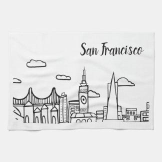 Serviette de plat de cuisine de San Francisco