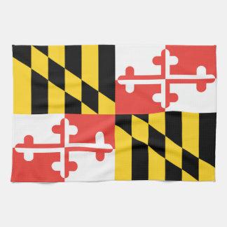 Serviette de plat de drapeau du Maryland
