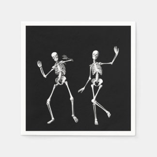 Serviette de squelettes de danse serviettes jetables