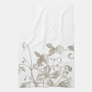 Serviette de thé botanique de vigne fleurissante serviettes pour les mains