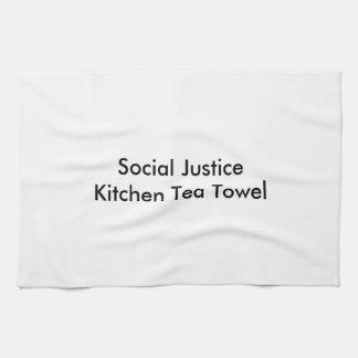 Serviette de thé de cuisine de justice sociale linges de cuisine