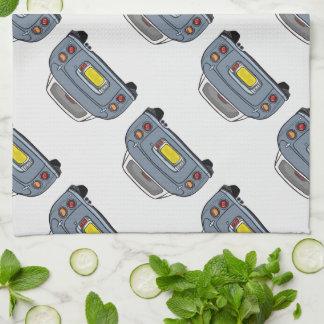 Serviette de thé grise de cuisine de Lapis Nissan