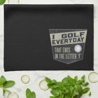 Serviette drôle de golf serviettes éponge