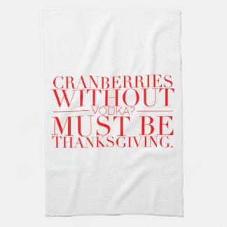 Serviette drôle de thanksgiving