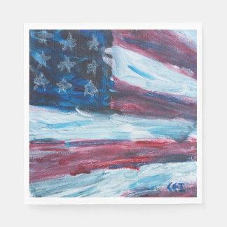 Serviette du drapeau deux serviette jetable
