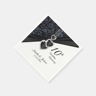 Serviette En Papier 10ème Anniversaire de mariage d'onyx