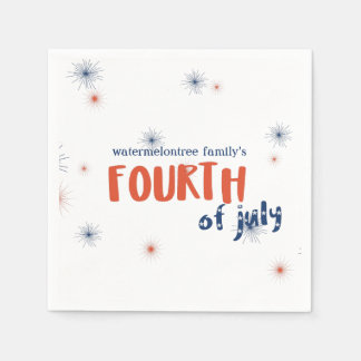 Serviette En Papier 4 juillet serviettes de papier personnalisées de