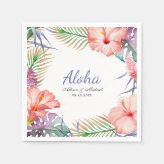 Serviette En Papier Aloha style floral tropical de Luau