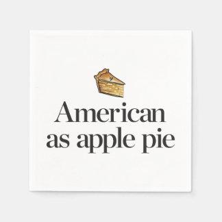 Serviette En Papier Américain comme tarte aux pommes