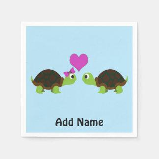 Serviette En Papier Amour de tortue