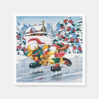 Serviette En Papier Amusement d'hiver avec Garfield, Odie et Pooky