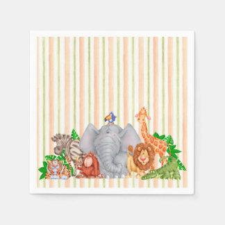 Serviette En Papier Animaux de zoo - serviettes