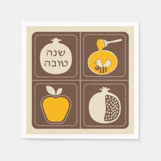 Serviette En Papier Année juive de Shanah Tovah Rosh Hashanah nouvelle