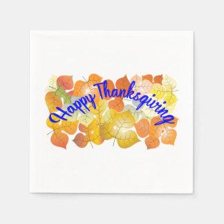 Serviette En Papier Arrière - plan de bon thanksgiving avec l'automne