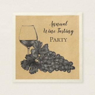 Serviette En Papier Arrière - plan de papier de raisins en verre de
