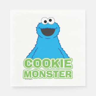 Serviette En Papier Art de caractère de monstre de biscuit