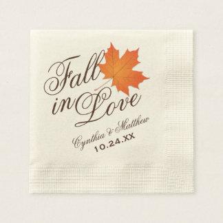 Serviette En Papier Automne des serviettes | de monogramme de mariage