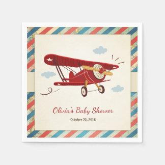 Serviette En Papier Avion de voyage d'aventure de serviette de baby