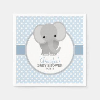 Serviette En Papier Baby shower (bleu) d'éléphant de bébé