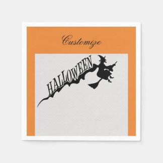 Serviette En Papier Balai effrayant Halloween Thunder_Cove