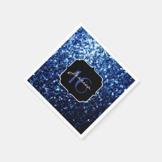 Serviette En Papier Beau bonbon bleu-foncé 16 à étincelles