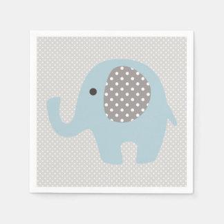 Serviette En Papier Bel éléphant de bleus layette