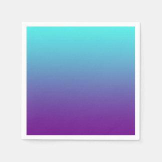 Serviette En Papier Bleu de turquoise pourpre d'arrière - plan simple