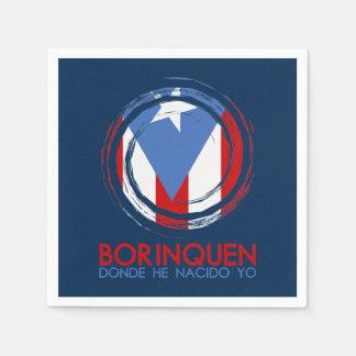 Serviette En Papier Bleu marine Porto Rico Borinquen