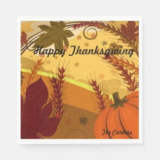 Serviette En Papier Bon thanksgiving VOTRE automne NOMMÉ colore le