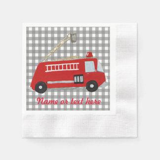 Serviette En Papier Camion de pompiers fait sur commande de bande