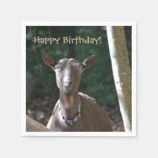 Serviette En Papier Chèvre de joyeux anniversaire