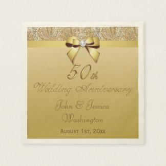 Serviette En Papier Cinquantième anniversaire de mariage personnalisé