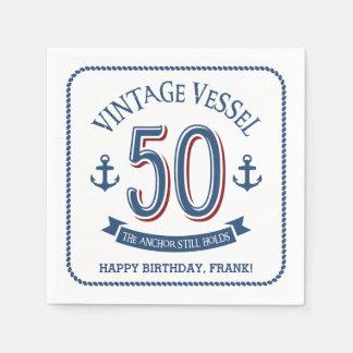 Serviette En Papier Cinquantième anniversaire nautique